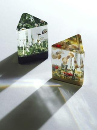 ガラス作品「プリズム」